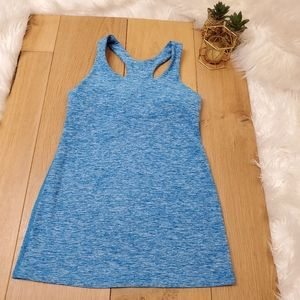 Beyond Yoga Blue Heathered Tank Top #249